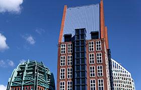 Geschäftsviertel von Den Haag